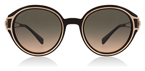 (Versace Women's VE4342 Transparent Brown/Pink Gold/Orange Gradient Light Grey One Size)