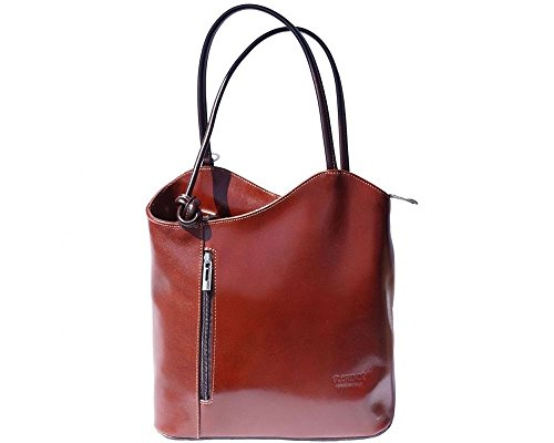 Florence Leather zaino borsa, Brown (marrone) - 207