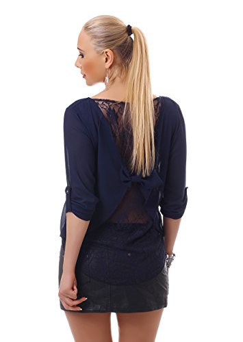 WeaModa - Camisas - Túnica - Básico - para mujer azul oscuro