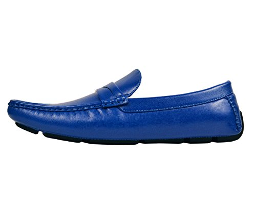 Shoe Blue Shoe Penny Dress Loafer Loafer Slip Driving Classic Textured Smooth On Comfortable Amali Mens SqWI60AIO
