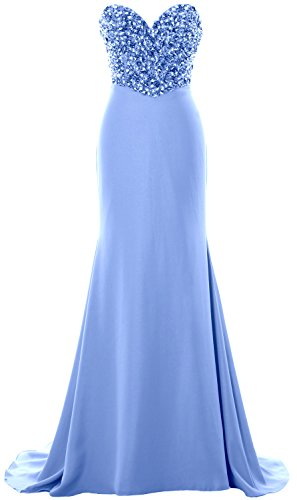 Crystals Prom Strapless Party Dress Formal Himmelblau Evening Women Long Gown MACloth naTX7w