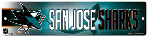 NHL San Jose Sharks High-Res Plastic Street Sign (San Jose Sharks Decor compare prices)