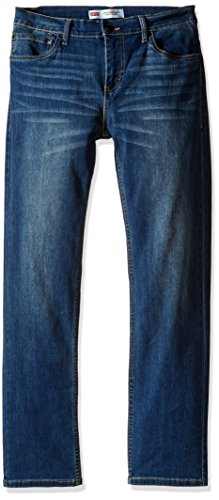 Levi's Big Boys' Slim Fit Performance Jeans, Evans Blue, 14 Regular