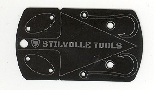 Stilvolle Tools Survival Dog tag Tool Minus Driver That Contains The 5 Features to Help Survival Dog tag-5 Survival time of The Dog tag Size, Lures/Trap Lock × 2, Arrowhead, Hook × 2 (Black) ()