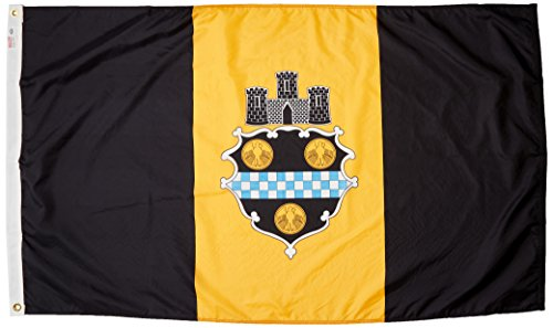 Flag City Pittsburgh (US Flag Store Pittsburgh City Flag 3ft x 5ft Nylon)