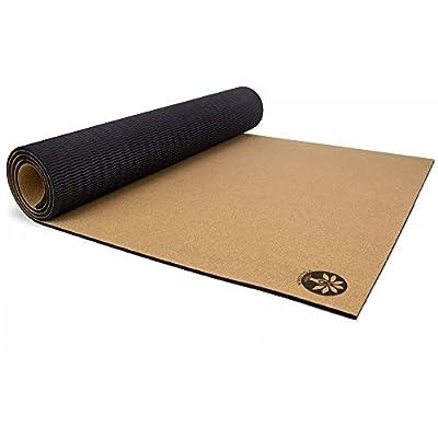 "Yoloha Cork Kids Yoga Mat - 62"" x 26"" - 6mm thick – Non Slip, Sustainable, Soft, Durable, Highest Quality, Premium, Handmade, Moisture Resistant"
