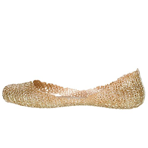 Jelly Elegance Ballet Elegance Glaze Ballet Flat Womens Womens Glaze Jelly Golden xq08I