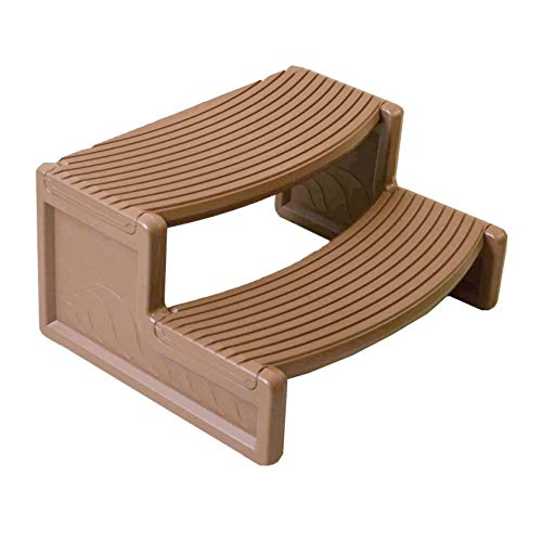 Confer Plastics Resin Multi Purpose Spa Hot Tub Handi-Step RV Steps, Light Tan