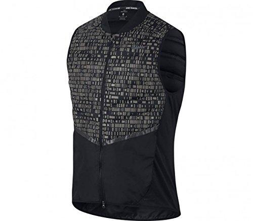 Nike Men's Aeroloft Flash Reflective Running Vest Black  800