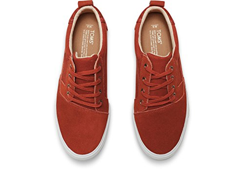 Toms Valdez Picante Red Suede/Cotton Twill Tribal 10007073 Mens 8 xXvXsY49