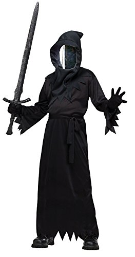 Fun World Big Boys' Haunted Mirror Ghoul Costume Black