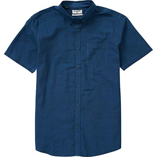 (Billabong Men's All Day Chambray Woven Short Sleeve Shirt, Navy/Blue, Medium)