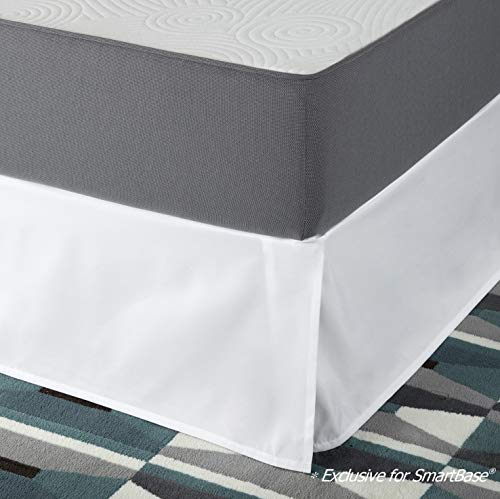 (Zinus SmartBase Easy On/Easy Off Bed Skirt for 14 Inch SmartBase Mattress Foundation, Queen)