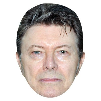David Bowie Celebrity Mask Card Face and Fancy Dress Mask Celebrity Cutouts
