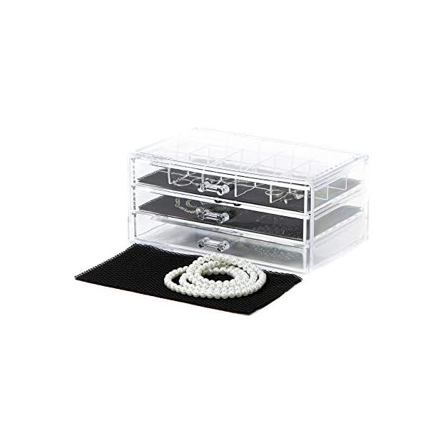 Compattatore-Ran-6642-organizzatore-Gioielli-3-cassetti-cassetto-con-15-soggetti-238-x-15-x-11-cm