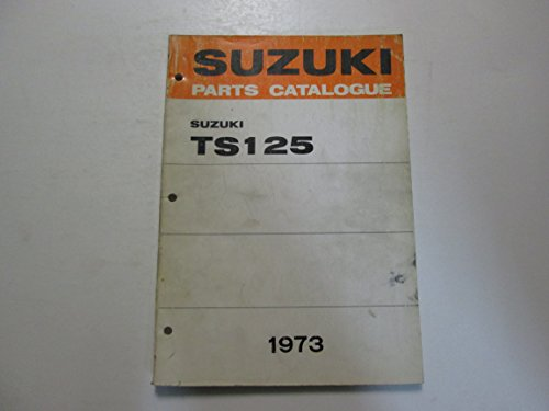 1973 Suzuki Motorcycle TS125 Parts Catalog Manual FADED STAINED