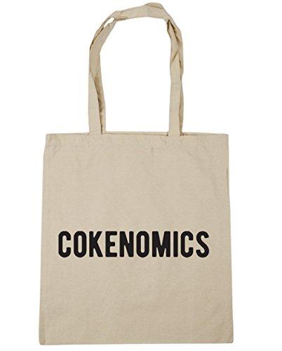 HippoWarehouse cokenomics Pablo Escobar Tote Compras Bolsa de playa 42cm x38cm, 10litros Natural