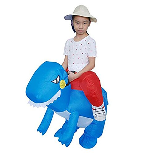 DniDesly Adult Kids Can Power Up Inflatable Dinosaur