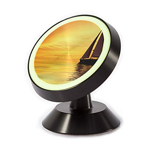 Magnetic Car Phone Holder Sailboat Sunshine 360 Degree Rotating Stand Grip Mount for iPhone X / 8/8 Plus 7/7 Plus / 6s / 6 / Galaxy S8 / (Sunshine Bench Kit)