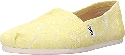 TOMS Women's Seasonal Classics Citron Neon Tribal Loafer