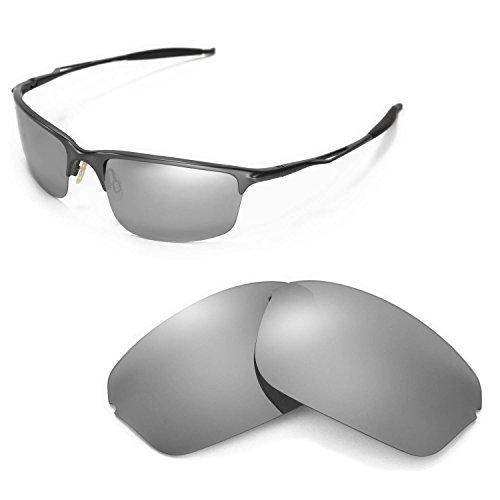 Walleva Polarized Titanium Replacement Lenses for Oakley Half Wire 2.0 - Titanium Clear Lens Oakley
