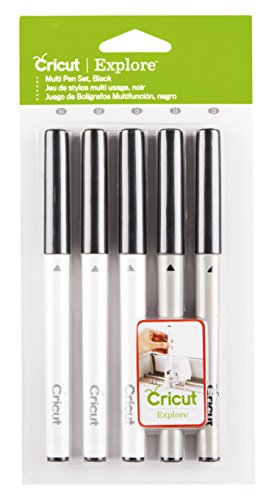Cricut 2002948 Black Pen Set, Multicolor 5 Count