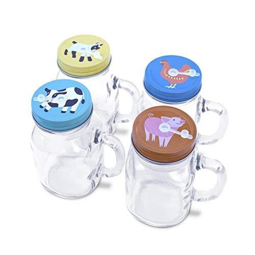 green mason jars with handles - 1
