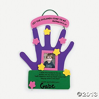 Mother#039s Day Hand Keepsake Craft Kit 12 Count/School Craft/Photo Frame/Day Care/Childrens Craft