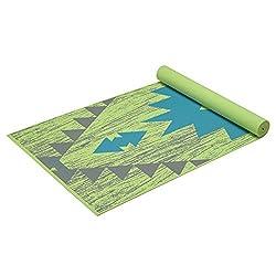 Gaiam Print Yoga Mat, Non Slip Exercise & Fitness Mat All Types Yoga, Pilates & Floor Exercises