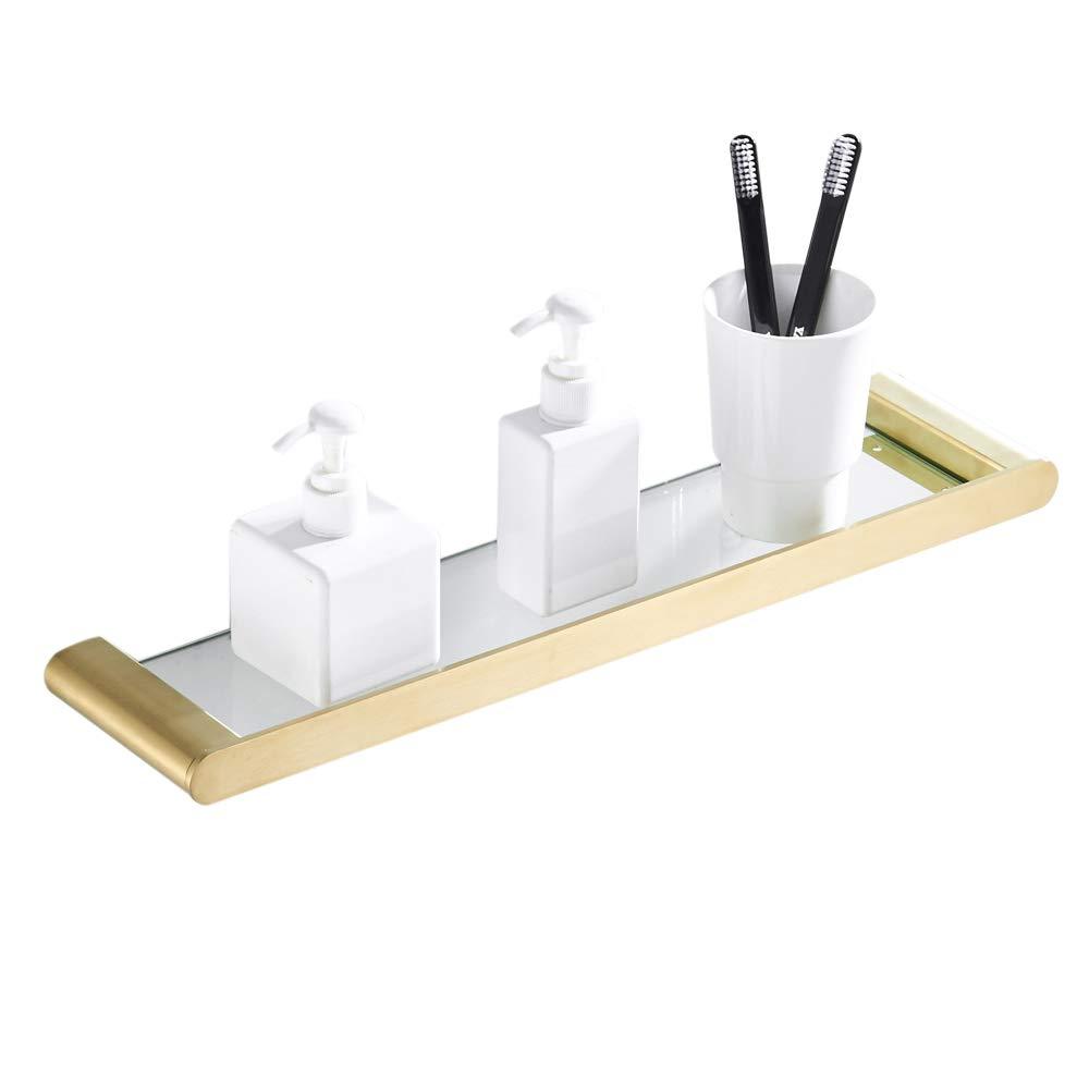 CASEWIND Wandmontag Handtuchstange Einzeln Handtuchhalter aus Gebürstet Gold Finished Edelstahl für Badezimmer Dusche Neuartig B07NS88C79 Handtuchhalter & -stangen