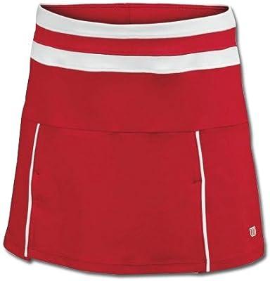 Wilson niña Tenis Rock Team Falda Rojo Talla XL: Amazon.es ...