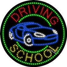 Driving School - Ultra Bright LED Sign - 26'' x 26''
