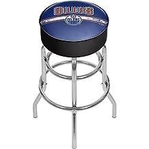 Trademark Gameroom NHL Chrome Bar Stool with Swivel-Edmonton Oilers