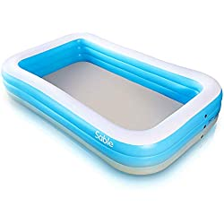 """Inflatable Pool, Sable Swimming Pool for Baby, Kiddie, Kids, Adult, Infant, Toddler, 118"""" X 72"""" X 20"""", for Ages 3+"""