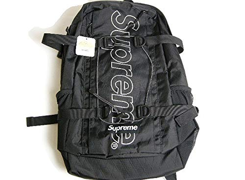 2018AW Supreme/シュプリーム/Backpack/Back pack/バックパック/リュックサック/バッグ/BAG18FW/18AW/2018FW/秋冬ブラック/BLACK/黒メンズ/レディースBOX LOGO/ボックスロゴ/BOGO FREE B07QJCD84T ブラック
