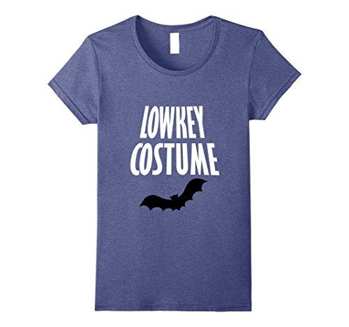 [Womens Low Key Costume Bat Halloween 2017 T-Shirt Tee Hot New Offer Small Heather Blue] (New Halloween Costumes Ideas 2017)