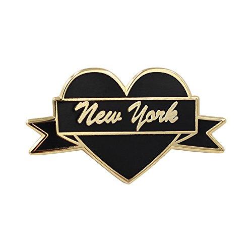 (Real Sic New York Enamel Pin NYC Lapel Pin - I Love New York Souvenir Pin for Jackets, Backpacks, Bags, Hats &)