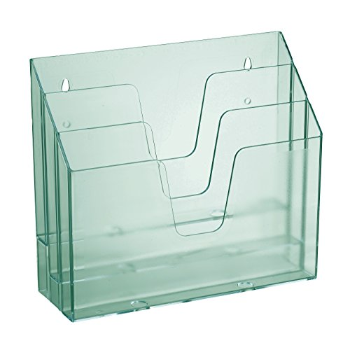 Acrimet Horizontal Triple File Folder Organizer (Clear Green Color)