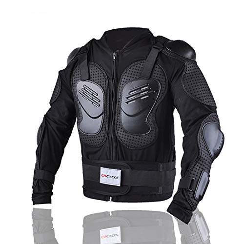 METTE Motorcycle Protective Jacket,Sport Motocross MTB Racing Body Armor Protector Back Protection Anti-Fall Breathable Jacket,Knight Special Protective Gear,Black,XXXXXL