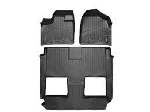 Floor Row Liner (WeatherTech - 444211-441414 - 2012 Dodge Grand Caravan Black 1st 2nd 3rd Row FloorLiner)