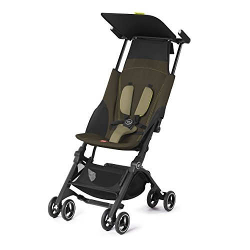 GB Pockit PLUS Stroller 2017 / multi-adjustable backrest / Light Traveler / from 6 Mo.-4Y. Lizard Khaki by GB