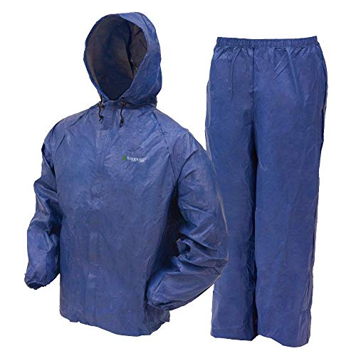 Frogg Toggs Ultra-Lite2 Waterproof Breathable Rain Suit, Youth, Blue, Size Large ()