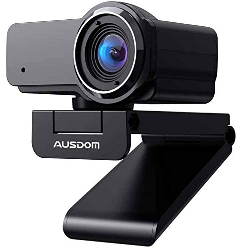 HD Webcam 1080P with Microphone, Ausdom USB Computer Web Camera, OBS Live Streaming Webcam, Widescreen Video Camera for…