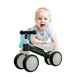 YGJT Baby Balance Bikes Bicycle Baby Walker Toys Rides for 1 Year Boys Girls 10 Months-24 Months Baby's First Bike First Birthday Gift (Black)