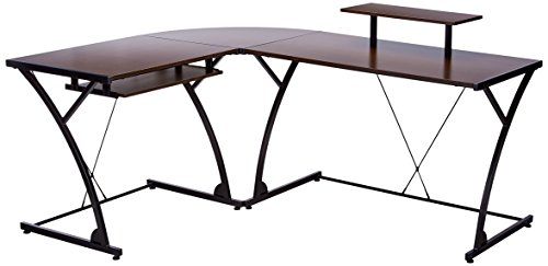 Z-Line Designs Khloe L Desk, Brown
