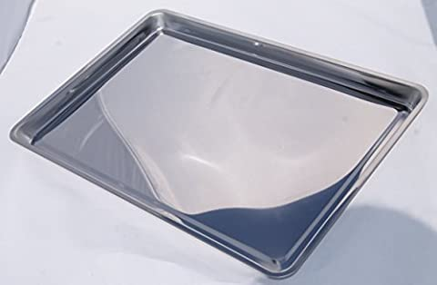 Stainless Steel Jelly Roll Oven Baking Pan for baking Cake, Jelly Rolls & Deep Pan Pizza, 16