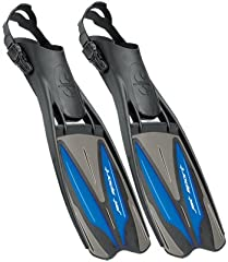 Fans of traditional blade fins will love the Scuba jet Sport adjustable fin, which impresses with its power, acceleration, and maneuverability. Lightweight and comfortable, The Jet Sport adjustable features a big, slightly stiff three-materia...