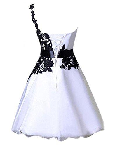 Line Shoulder Dress A Black Appliques Short One Homecoming Grape Dressesonline axnTCwx