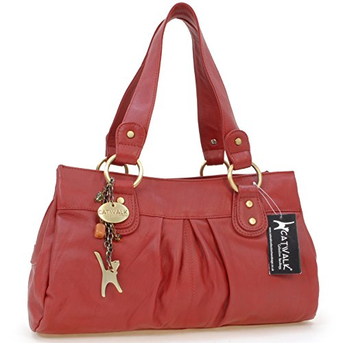 CATWALK COLLECTION - BELLA - Bolso de mano - Cuero Rojo