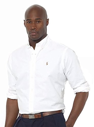 (Polo Ralph Lauren Men's Classic Oxford Shirt (X-Large, White))